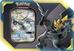 POKEMON -  TAG TEAM PIKACHU AND ZEKROM GX TIN (4 PACKS + ACCESORIES)