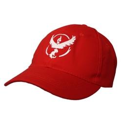 POKEMON -  TEAM VALOR ADJUSTABLE  CAP - RED & WHITE -  POKEMON GO