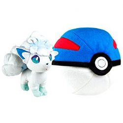 POKEMON -  ZIPPER GREAT BALL WITH ALOLAN VULPIX PLUSH (10