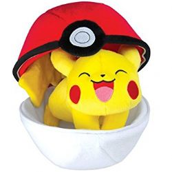 POKEMON -  ZIPPER POKÉ BALL WITH PIKACHU PLUSH (10