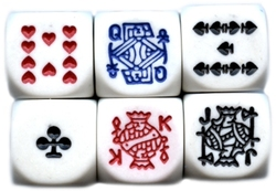 POKER DICES -  6-SIDED POKER DICE