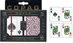 POKER SIZE PLAYING CARDS -  1546 BURGUNDY AND GREEN (JUNBO INDEX)