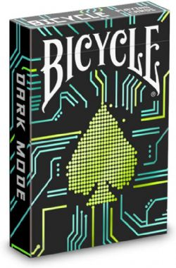 POKER SIZE PLAYING CARDS -  BICYCLE - DARK MODE