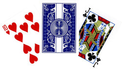 POKER SIZE PLAYING CARDS -  BICYCLE PRESTIGE (BLUE)