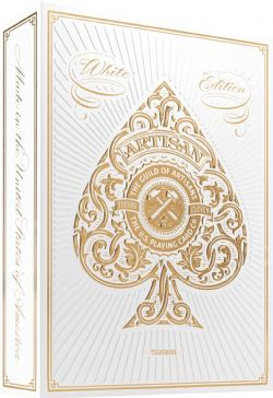 POKER SIZE PLAYING CARDS -  BICYCLE THEORY 11 - ARTISAN (WHITE