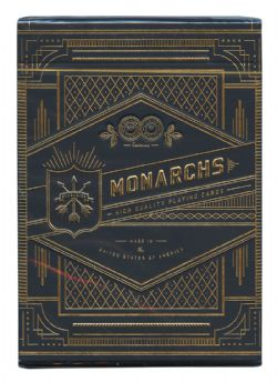 POKER SIZE PLAYING CARDS -  BICYCLE THEORY 11 - MONARCHS (BLACK)