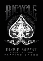 POKER SIZE PLAYING CARDS -  BLACK GHOST