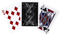 POKER SIZE PLAYING CARDS -  BLACK GUARDIANS