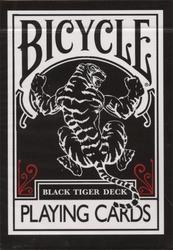 POKER SIZE PLAYING CARDS -  BLACK TIGER (REGULAR INDEX) -  ELLUSIONIST