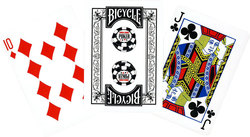 POKER SIZE PLAYING CARDS -  BLACK
