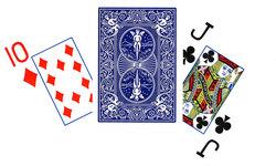 POKER SIZE PLAYING CARDS -  BLUE JUMBO INDEX