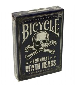 POKER SIZE PLAYING CARDS -  DEATH HEADS ANNIHILATION (REGULAR INDEX) -  KARNIVAL