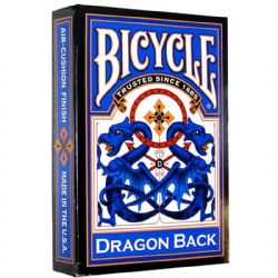 POKER SIZE PLAYING CARDS -  DRAGON BACK - BLUE