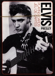 POKER SIZE PLAYING CARDS -  ELVIS - BLACK AND WHITE