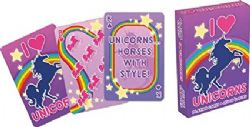 POKER SIZE PLAYING CARDS -  I HEART UNICORN