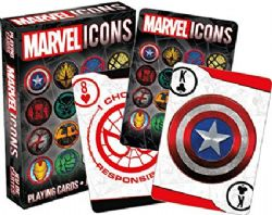 POKER SIZE PLAYING CARDS -  MARVEL ICONS