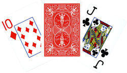 POKER SIZE PLAYING CARDS -  RED JUMBO INDEX