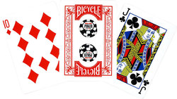 POKER SIZE PLAYING CARDS -  RED