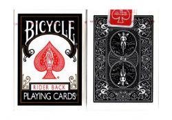 POKER SIZE PLAYING CARDS -  REGULAR INDEX (BLACK)