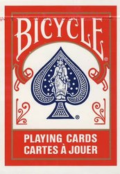 POKER SIZE PLAYING CARDS -  REGULAR INDEX (RED)
