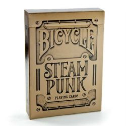 POKER SIZE PLAYING CARDS -  SILVER (REGULAR INDEX) -  STEAM PUNK
