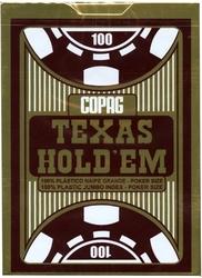 POKER SIZE PLAYING CARDS -  TEXAS HOLD'EM BURGUNDY (JUMBO INDEX)