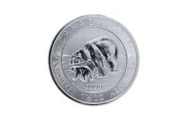 POLAR BEAR AND CUB - 1 1/2 OUNCE FINE SILVER COIN -  2015 CANADIAN COINS