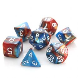 POLY RPG DICE SET -  COPPER/TURQUOISE ALLOY -  DIE HARD