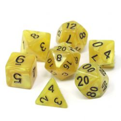 POLY RPG DICE SET -  GOLD DOUBLOONS -  DIE HARD