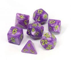 POLY RPG DICE SET -  PURPLE TRICKSTER -  DIE HARD