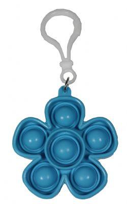 POP-IT FIDGET ! -  BLUE FLOWER KEYCHAIN -  SERIE 1
