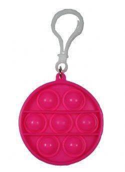 POP-IT FIDGET ! -  PINK CIRCLE KEYCHAIN -  SERIE 1