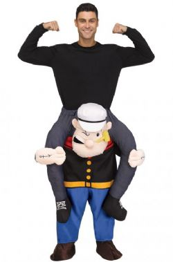 POPEYE -  CARRY ME POPEYE COSTUME (ADULT - ONE SIZE) -  PIGGYBACK COSTUME