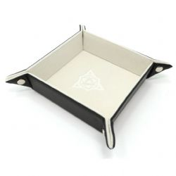 PORTABLE DICE TRAY -  FOLDING SQUARE TRAY - CREAM VELVET -  DIE HARD