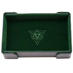 PORTABLE DICE TRAY -  MAGNETIC RECTANGLE TRAY - GREEN VELVET -  DIE HARD
