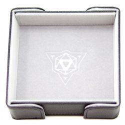 PORTABLE DICE TRAY -  MAGNETIC SQUARE TRAY - GRAY VELVET -  DIE HARD