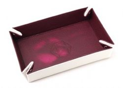 PORTABLE DICE TRAY -  THERMIC PINK - CREAM VELVET -  DIE HARD