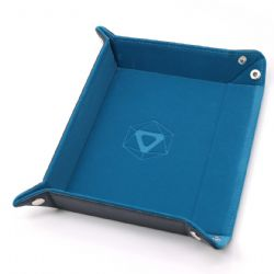 PORTABLE DICE TRAY -  THERMIC TEAL - TEAL VELVET -  DIE HARD