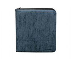 PORTFOLIO -  SUEDE (SAPPHIRE) 4-UP PRO-BINDER WITH ZIPPER THAT HOLDS 480 CARDS