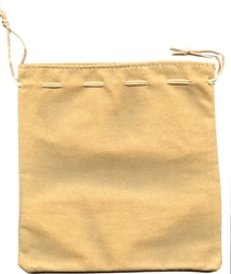 POUCH -  BEIGE LEATHER BAG (7