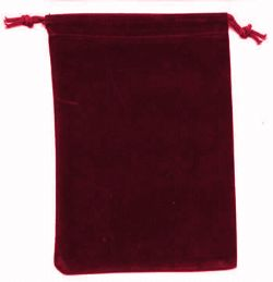 POUCH -  CLOTH BAG BURGUNDY (12.5 CM X 18 CM)
