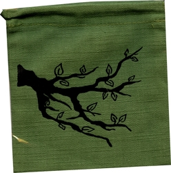 POUCH -  ENTS - DICE BAG  (GREEN)