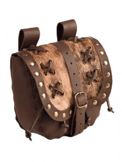 POUCHES -  BARBARIAN POUCH - BROWN