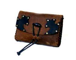 POUCHES -  BIG PEASANT PURSE - BROWN  BROWN