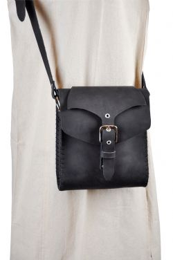 POUCHES -  SHOULDER BAG - BLACK
