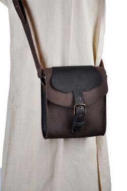 POUCHES -  SHOULDER BAG - BROWN/BLACK