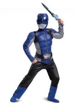 POWER RANGERS -  BLUE POWER RANGER COSTUME (CHILD) -  BEAST MORPHERS