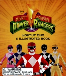 POWER RANGERS -  LIGHT-UP RING & ILLUSTRATED BOOK -  MINI-KIT