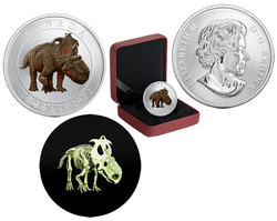 PREHISTORICAL CREATURES -  PACHYRHINOSAURUS LAKUSTAI -  2012 CANADIAN COINS 01