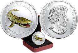 PREHISTORICAL CREATURES -  TIKTAALIK -  2014 CANADIAN COINS 04